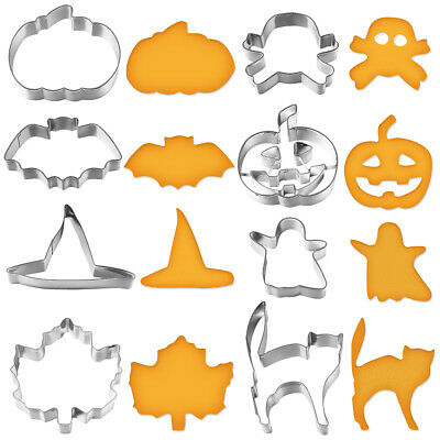 8pcs Halloween Stainless Steel Sugar Cake Biscuit Cookie Cutter Mould DIY Tool