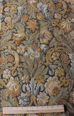 Antique French Jacquard Woven Heavy Tapestry Fabric/Textile c1850