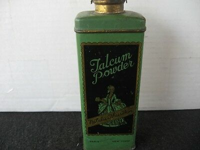 Vintage Natalie Thurston Talcum Tin Powder Paris New York