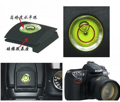 Flash Hot Shoe Cover Cap Bubble Spirit Level For Canon Nikon Pentax Olympus