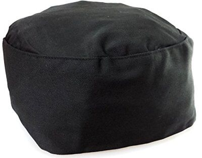 Black Chef Hat- Elastic Back