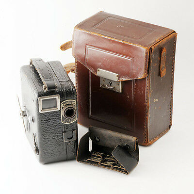 Vintage Pathe Motocamera Krauss Movie Cine Camera with Case and 3 Aux. Lenses