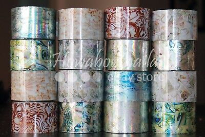 """Opals and Pearls""  transfer nail foil 1 meter - 16 designs for choice"