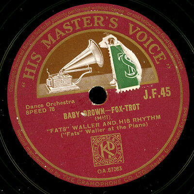 FATS WALLER & HIS RHYTHM Baby Brown / Whose honey are you?  Schellackplatte X095