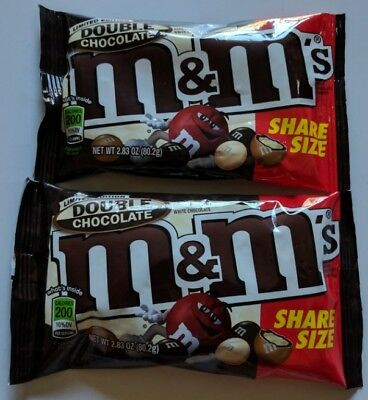 NEW Two Limited Edition Double Chocolate M&M's Share Size FREE WORLDWIDE SHIPPIN