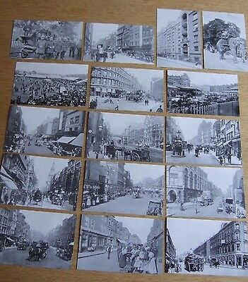 JOBLOT, 16 CITY OF LONDON STREETS PC'S, FINSBURY HACKNEY HOLBORN, good to frame