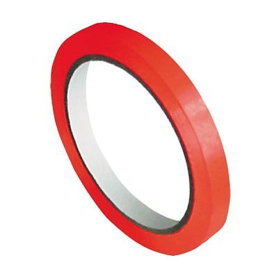 ( eur. 0,01 / m-eur 0,02/M) Tape Bag Closure PVC 66M x 9mm Red Adhesive Film