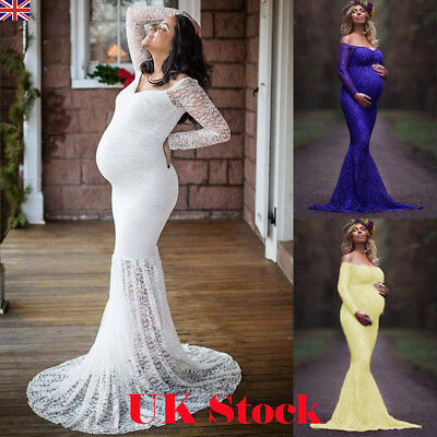 Lace Maternity Photography Props Long Pregnancy Dress Clothes For Pregnant Women