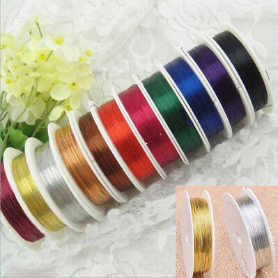 0.2~1mm Lot Wholesale Soft Copper Wire Thread Cord Jewelry Making Findings US