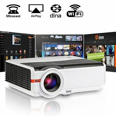 Wifi LED Projector 1080P HDMI 5000 Lumen Multimedia Wireless Android Home Cinema