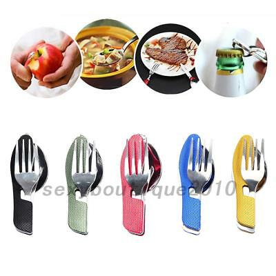 Stainless steel Camping Cutlery Kit - Picnic Spoon Fork Compact Travel