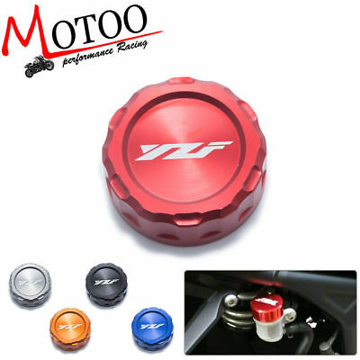 Motorcycle CNC Rear Brake Fluid Reservoir Cover Cap For YAMAHA YZF R1 R3 R25 R6