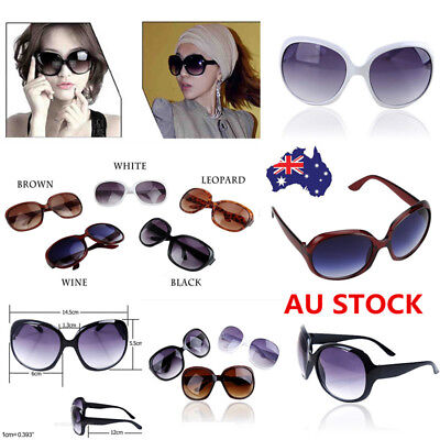 Fashion Women Retro Vintage Round Mirrored Oversized Sunglasses Eyewear With Box