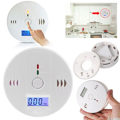 CO Carbon Monoxide Detector Poisoning Gas Soot Warning Alarm Sensor Monitor fo12