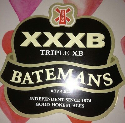 Beer Pump Clip Front. Batemans Triple Xb. New.