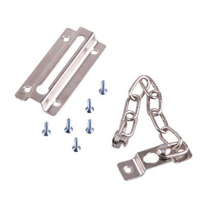 Iron Door Security Guard Safety Chain Fastener Silver Lock Bolt Home Room Hotel