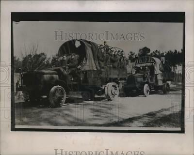 1944 Press Photo Company C, 83rd Division, Hauling Troops Near Eccomoy France