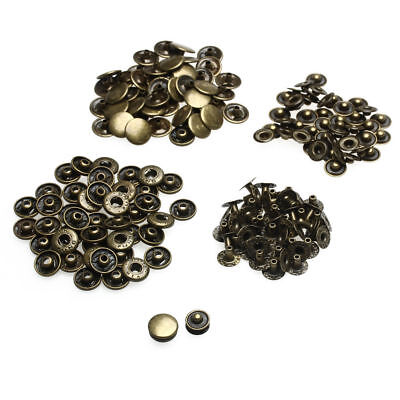 15mm S Spring Bronze Press Studs Snap Fastener Poppers Button Sewing Clothing