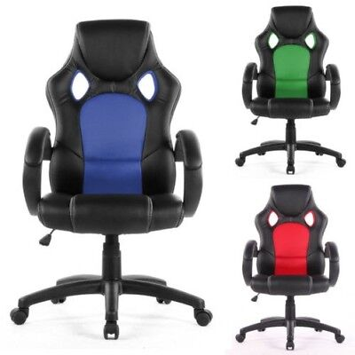 Office Computer Swivel - Desk Chair PU Leather Height Adjustable Back Support