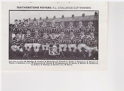 Team Pic from 1967-68 FOOTBALL Annual - FEATHERSTONE  ROVERS + WAKEFIELD TRINITY