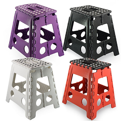 New Plastic Multi Purpose Folding Step Stool Home Kitchen Foldable Extra Large