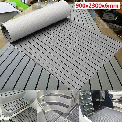 "Marine Flooring Faux Teak  Boat Decking EVA Foam Sheet Grey 91""x35"""
