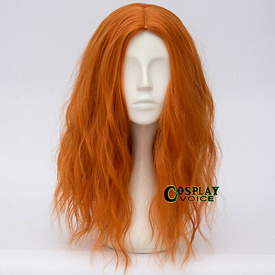 Lolita 50CM Orange Long Curly Hair Harajuku Women Ombre Halloween Cosplay Wig