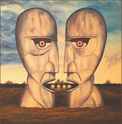 Pink Floyd Original Oil Painting (Brand New) On Deep Edge Stretched Canvas