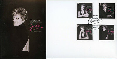 Gibraltar 2017 FDC Princess Diana of Wales 20th Memorial 4v Cover Royalty Stamps