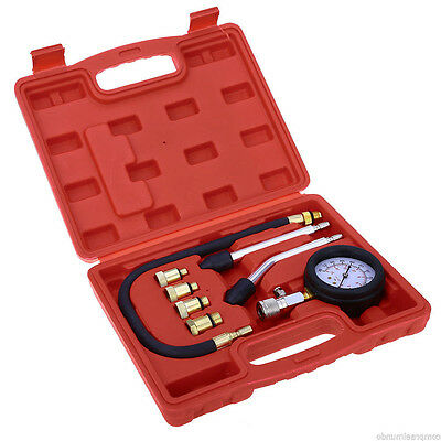 Diesel Engine Compression Cylinder Pressure Tester Gauge Set 0-300 psi 0-21 bar