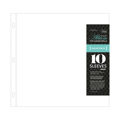 Post Bound and D-Ring Album Refills 12X12 10/Pkg