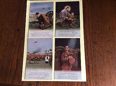 WW1 Postcards - SET OF FOUR FIGHT THE GOOD FIGHT