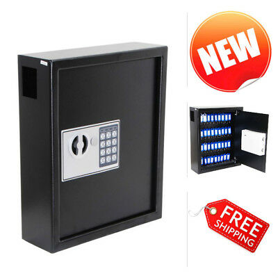 40 Key Cabinet Digital Security Lock Holder Wall Mount Storage Case Safe Box