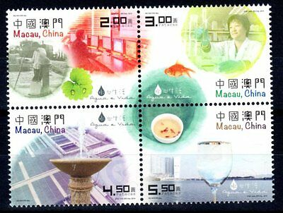 CHINA MACAU 2015 Water and Life Set of 4 MNH
