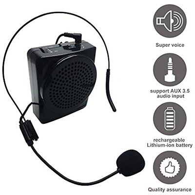 Voice Amplifier, Soled Rechargeable Loud Speaker, Portable Microphone With And