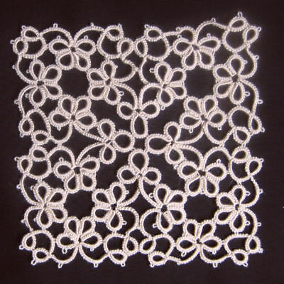 Tatting Doily Tatted Lace Trim Mat Coaster Wall Decor Applique Acrylic Beige New