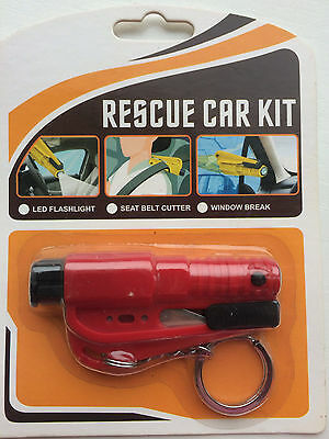 Rescue Car Kit -- 3 In 1 -- Led Flashlight -- Seat Belt Cutter -- Window Break