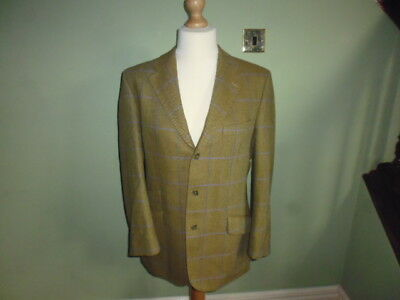 """Magee Oxford men's green wool tweed country show jacket size 40"""" short"""