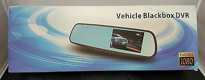 Dash Cam Vehicle Blackbox DVR Rearview Mirror Front and Rear Camera Full HD 1080