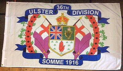 36Th (Ulster) Division / 5X3 Foot / Outdoor Flag / Excellent Quality / Eyelets