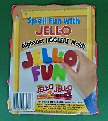 Jell-o Jigglers Alphabet Molds Jello 26 Letters Cookie Cutters or Molds NIP