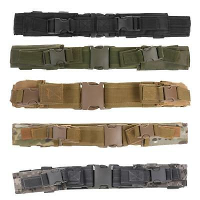"""2"""" Inch SWAT MOLLE Tactical Waist Strap Combat Gear Duty Utility Belt with Pouch"""