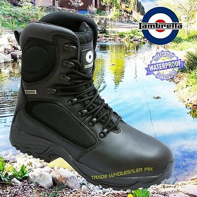 Lambretta Waterproof Sia Military Safety Steel Toe Cap Work Combat Boots Db617