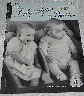 Vintage Beehive Baby Knitting Pattern Magazine Monthly Projects for First Year