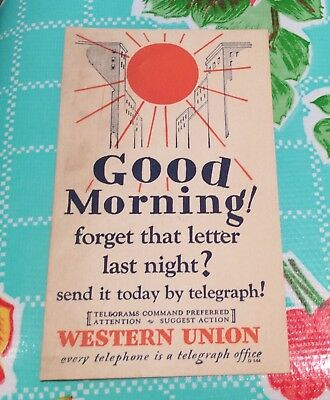 """1930 Western Union advertising """"every telephone is a telegraph office"""" preferred"""