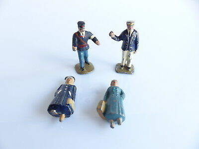 Hornby Meccano Dinky Toys 4 Personnages En Plomb Echelle O