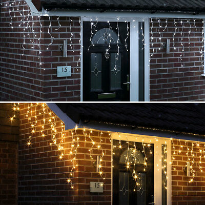 5.8M - 7.6M Outdoor Garden Roof Snowing Christmas Icicle Led Fairy String Lights