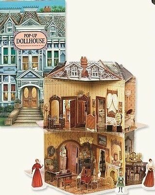 Victorian Trading Co Pop Up Dollhouse Book Three-Dimensional Free Ship NIB