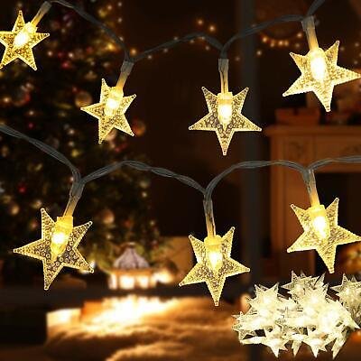 Waterproof Solar Power String Lights for outdoor Decoration Multicolor Snowflake