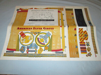 Scarce 1981 Greenberg Reproduction American Flyer Circus Tent & Accessory Set